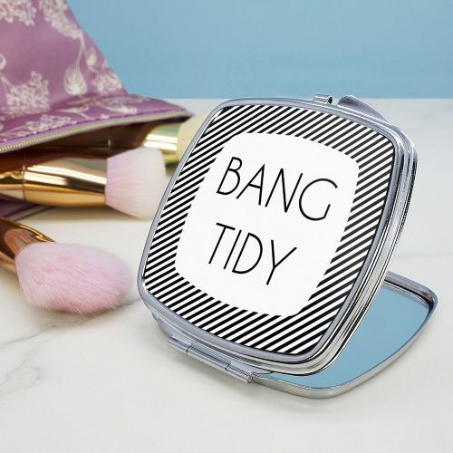 Personalised The Totally Flattering Square Compact Mirror